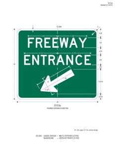 Freeway Entrance With Arrow2