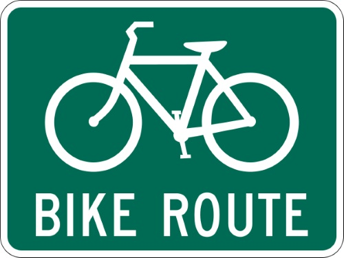 Guide Signs For Freeways & Expressways Bike Route