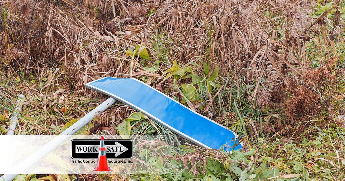 Here's What To Do If You Damage A Road Sign