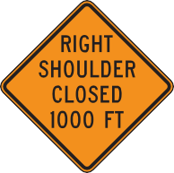 Right Shoulder Closed 1000 Ft