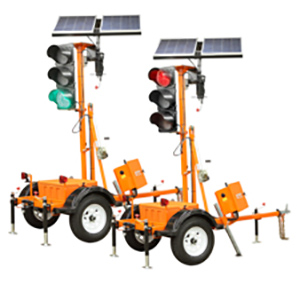 TLD-2312 Trailer-Mounted Traffic Signals
