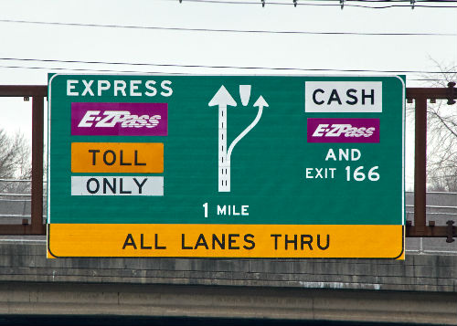 Toll Road Signs Express Tolls