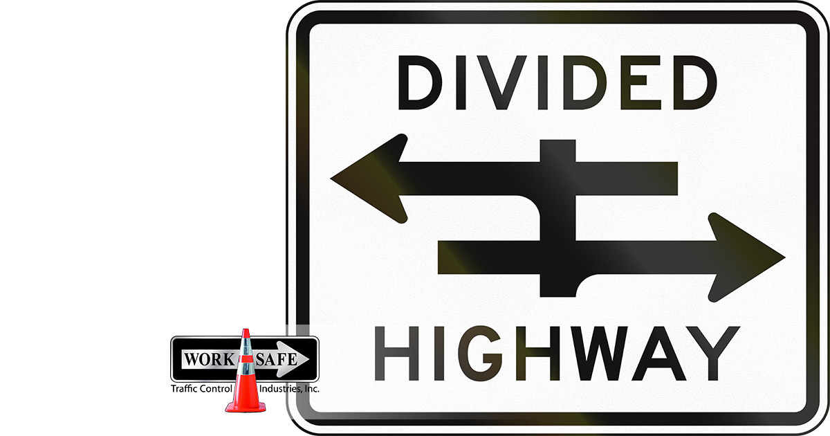 What Does A Divided Highway Sign Mean