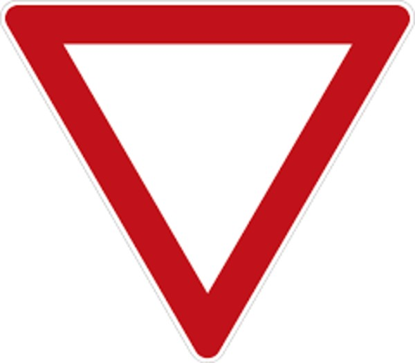 What Does A Triangle Shape Mean On Road Signs German Yield