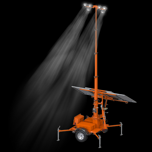 PSLT-4000S Trailer-Mounted Solar Light Tower