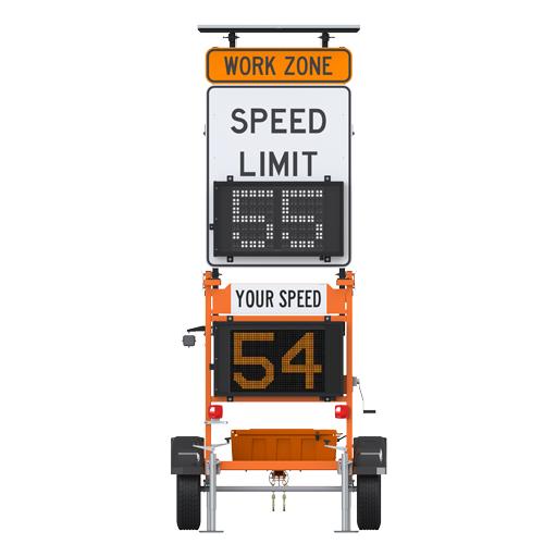Ver-Mac SP-3248DSL Trailer-Mounted Speed Sign