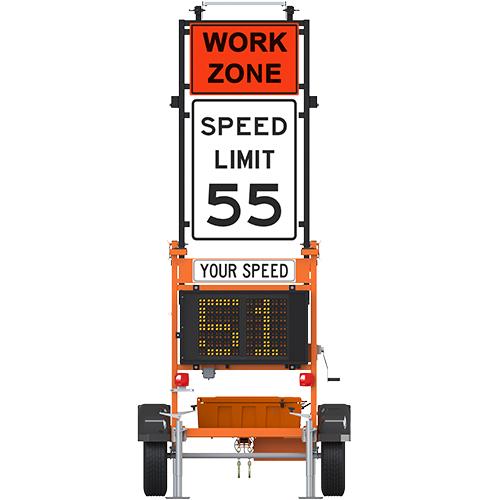 Ver-Mac SP710v S FD Trailer-Mounted Speed Sign