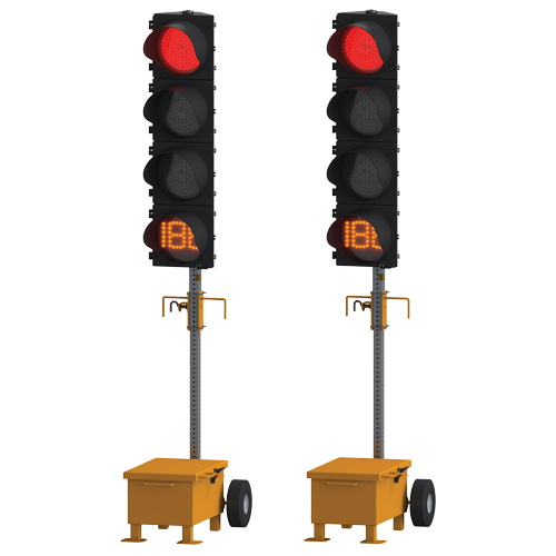 Ver-Mac TLG-1412 Trolley Mounted Traffic Signal