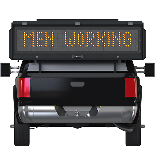 TM-1056 Truck Mounted Message Sign with Men Working Verbiage