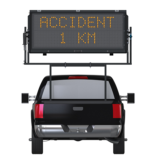 TM-2056 Truck Mounted Message Sign with Accident 1KM verbiage