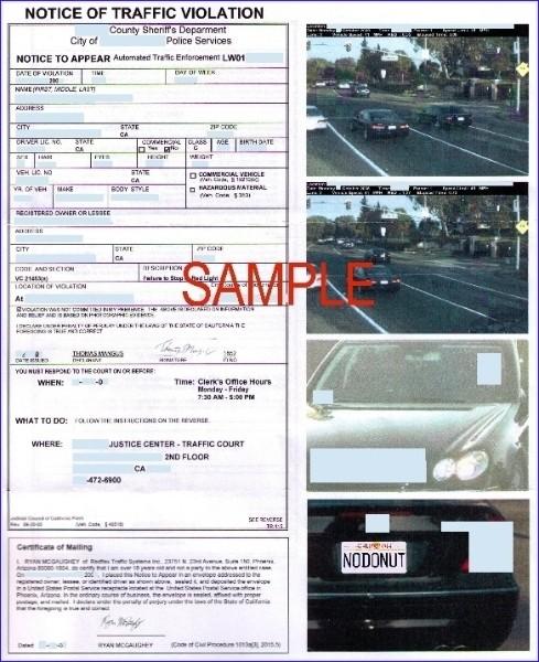 Traffic Camera Ticket